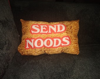 Noodley pillow for the noodle club FREE SHIPPING