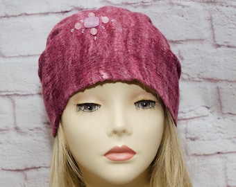 felting burgundy winter hat felt hat burgundy winter hat burgundy beanie winter  burgundy slouchy beanie burgundy winter beanie slouchy hat