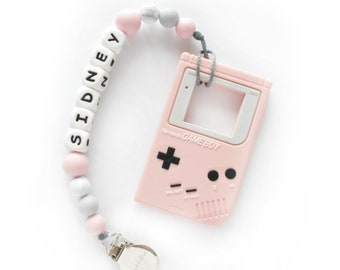 Silicone Gameboy with Clip      Silicone holder   pink Grey Silicone