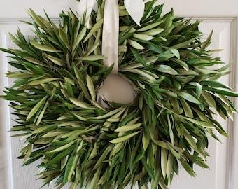Fresh Olive Wreath, Fresh Greenery Wreath, Fresh Wreath