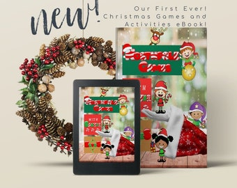 Christmas Games, Christmas Elf Games, Christmas Activities for Kids, Christmas Scavenger Hunt