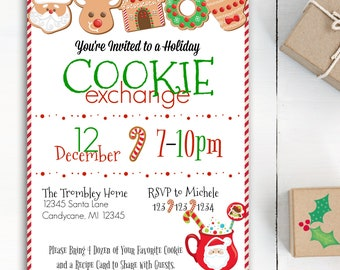 Christmas Cookie Party Invite.Cookie Swap Invite Etsy