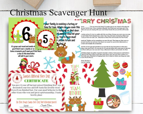 Christmas Theme Party Ideas For Family.Christmas Scavenger Hunt Christmas Party Games Christmas Games Holiday Game Christmas Activity Scavenger Hunt Family Games