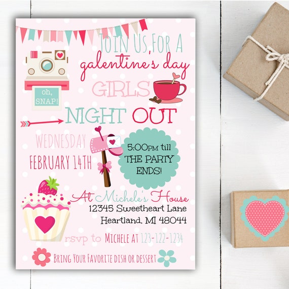 Galentine S Day Invite Galentine S Day Party Etsy