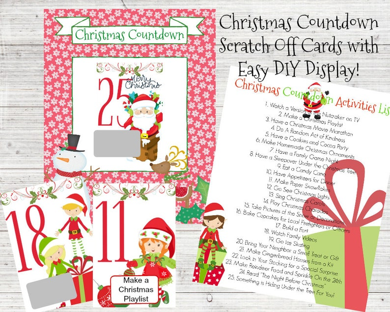 photograph about Printable Christmas Countdown referred to as Xmas Countdown / Introduction Calendar / Printable Introduction Calendar / Countdown toward Xmas / Xmas Calendar / Elf Calendar / Printable