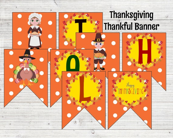 graphic regarding Printable Thanksgiving Banner identify Thanksgiving Banner / Slide Decor / Thanksgiving Decorations