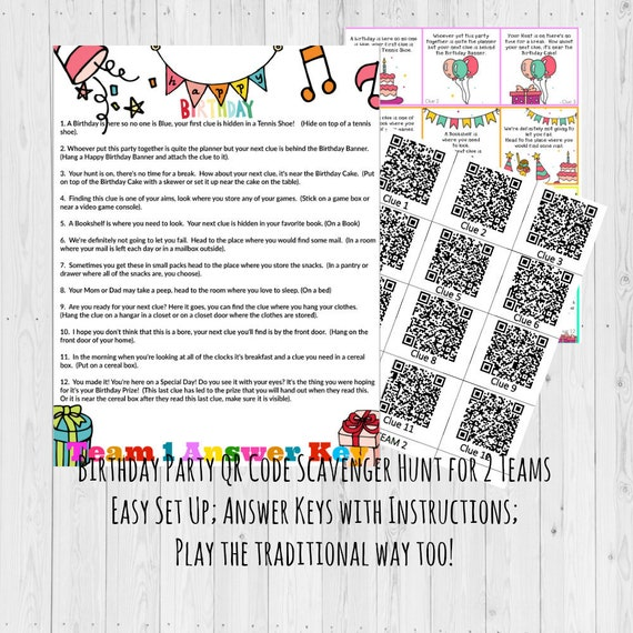 Birthday Scavenger Hunt / Scavenger Hunt / Birthday Games