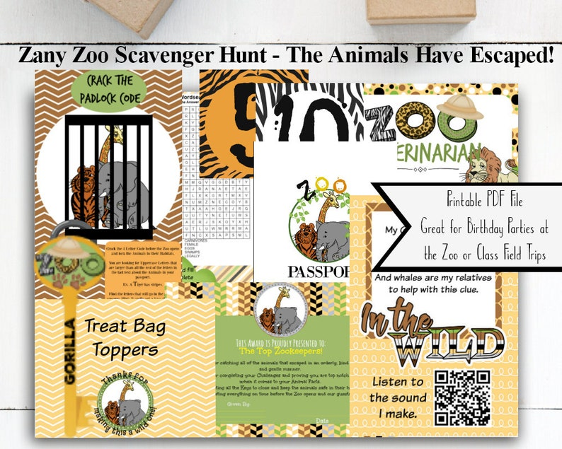 photo about Zoo Scavenger Hunt Printable referred to as Zoo Scavenger Hunt / Zoo Celebration / Zoo Treasure Hunt / Zoo Birthday Celebration / Zoo Business Family vacation / Residence Higher education / Zoo Pport / Scavenger Hunt