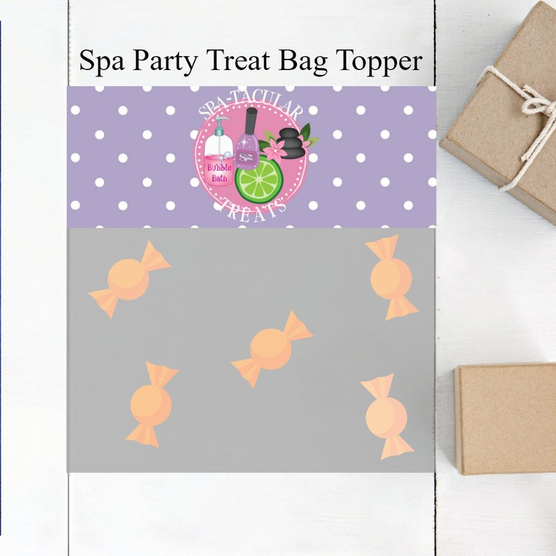 Spa Party  Slumber Party  Spa Party Supplies  Girls Spa Party  Spa Birthday  Spa Favor Bag  Spa Treat Bags  Spa Party For Girls