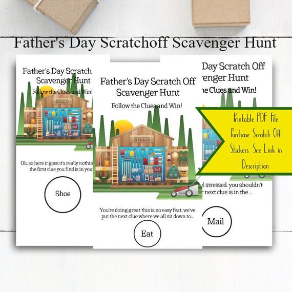 picture regarding Printable Clue Game Cards named Scratch off Scavenger Hunt / Scavenger Hunt / Printable