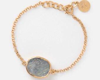 Raw Moonstone Bracelet - Rainbow Moonstone bracelet - Raw gemstone bracelet - Raw crystal - June birthstone