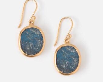 Labradorite earrings - Raw Labradorite earrings - Rough Labradorite  earrings - Raw Labradorite  - Rough Labradorite