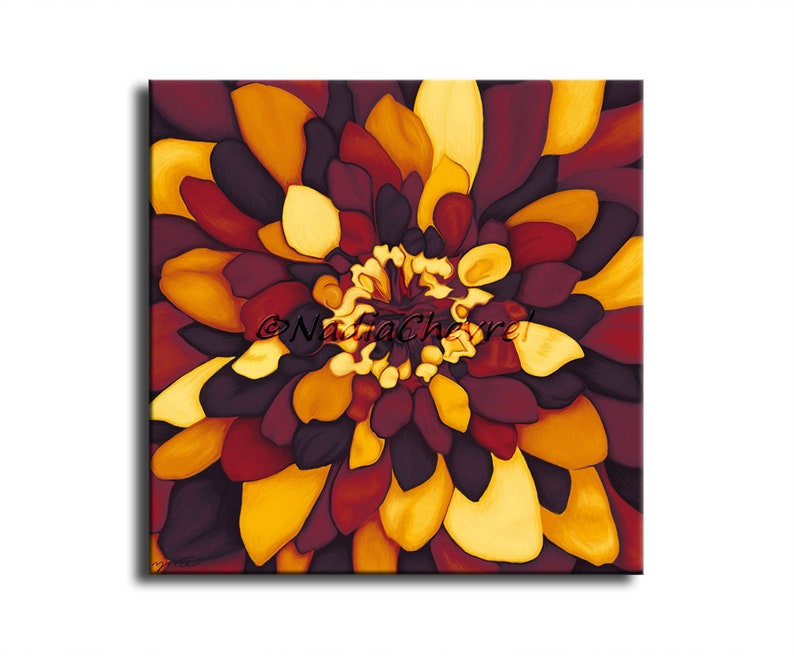 Autumn colors flower picture  painting digital print on image 0