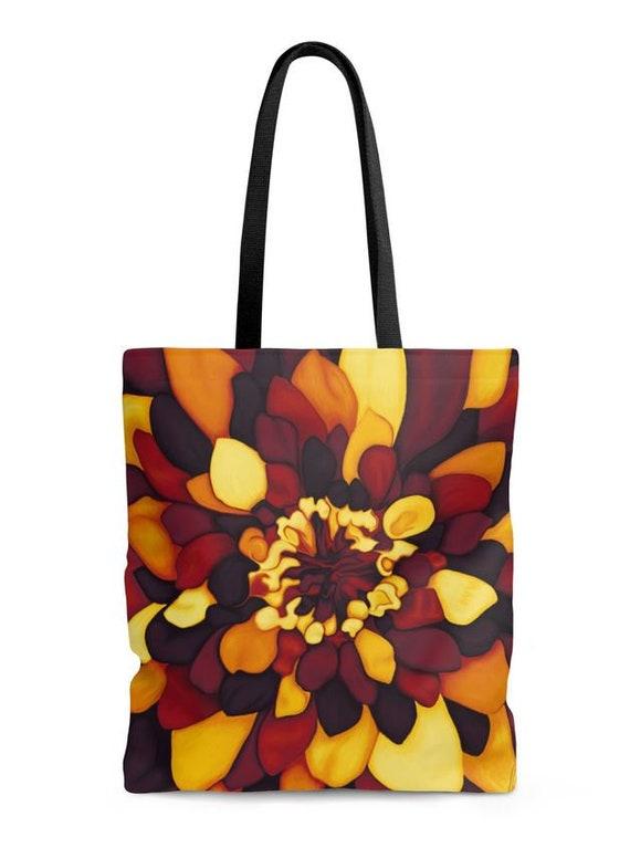 90bba0971f Petals of flower colors hot paint printed shopper bag - art tote bag -  flower
