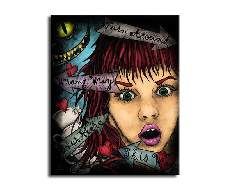 Painting Alice in Wonderland printed painting on canvas  image 0