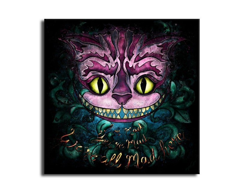 Table cat from Cheshire art-cat Alice in Wonderland-smiling image 0