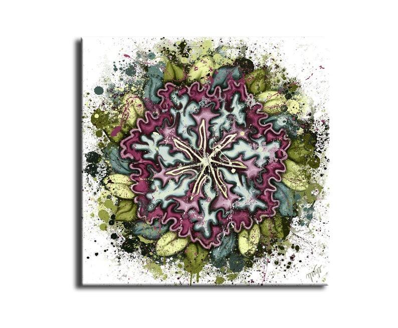 Painting floral mandala  mandala modern  painting flower image 0