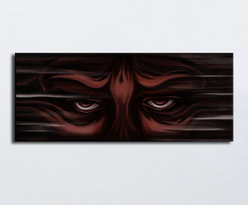 Table looking Brown and black-panoramic dark eyes digital image 0