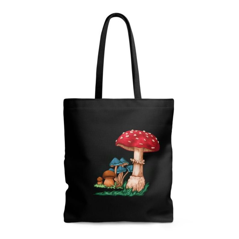 02fbd2da2334 Colorful mushroom print bag handbag fabric painting canvas   Etsy