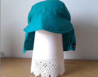 LL Bean Kids 12-24 Months Back Neck Flap Cap in Turquoise