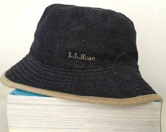 412f73f37e703 LL Bean Reversible Bucket Hat Saiz M 58cm