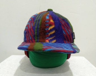 8ead8c97 Vintage Ellesse Flap Cap in Multi Color, One Saiz Fit for All made in Japan