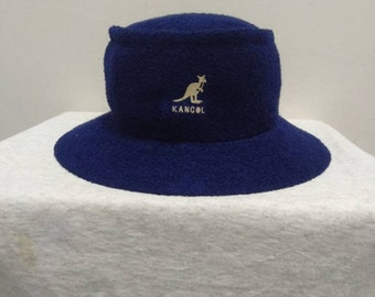7ba2eceb Kangol Embroidered Bucket Hat in Blue Colour