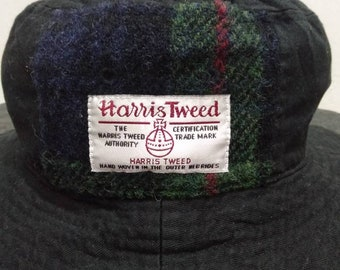 6803b594fd042 Harris Tweed Bucket Hat in Black Color used