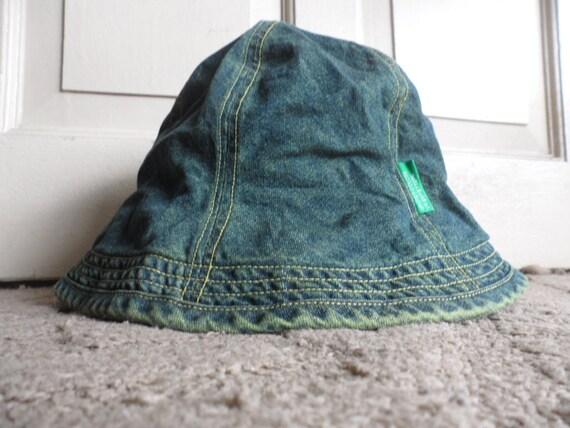 United Colors of Benetton Blue Greenish Denim Bucket Hat  6e489926f3a4