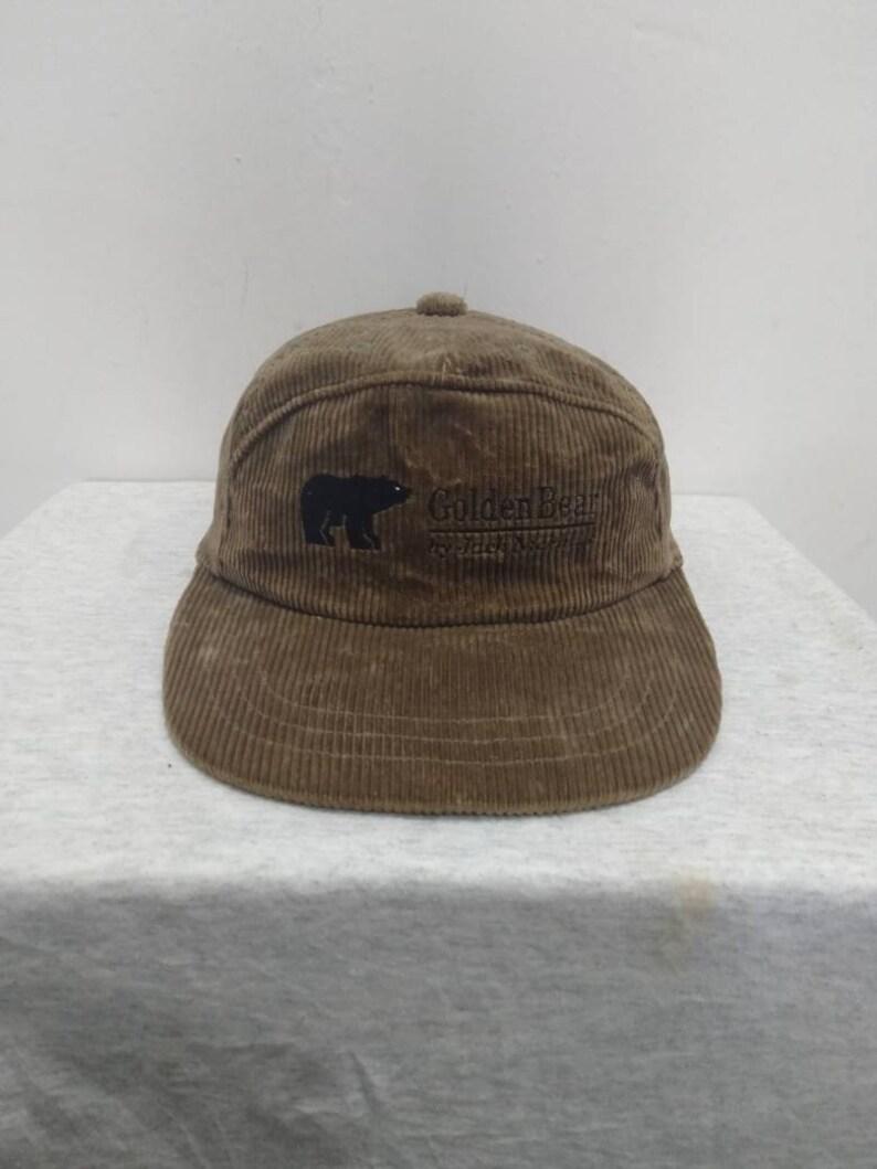 184fadf2d310a Vintage Golden Bear Coduroy Cap by Jack Nicklaus free Saiz
