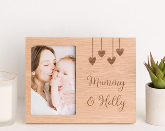 New Mum /& Dad Gifts Oak Wooden Heart Baby Shower Gifts For Mum And Dad Baby Gift