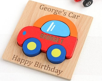Personalised Wooden Car Jigsaw Puzzle