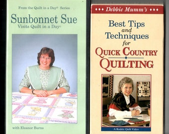 Two (2) quilting VHS tapes,