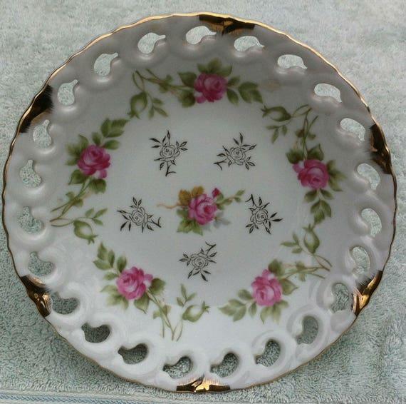 Iltk Calendario.Lefton China Hand Painted Ne 712 Floral Pedestal Design Candy Dish