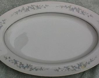 Forge Me Not oval serving platter