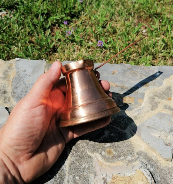 Vintage Handcrafted Islamic Turkish Bronze Brass Copper Tin Serving Coffee Pot  HOME Farmhouse DECOR