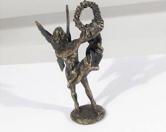 old bronze statue