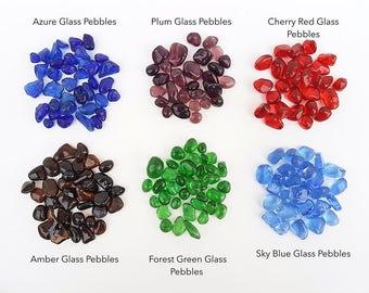 6 Colors Glass Pebbles for Terrarium 100g Premium Arts Crafts Wedding Vase Fillers Terrarium Aquarium Decor