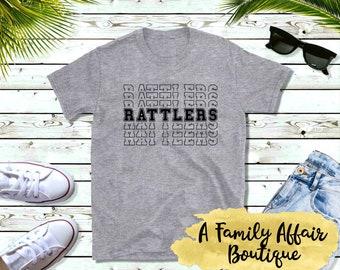 Rattlers Mascot, Sports Mascot, Unisex Shirt