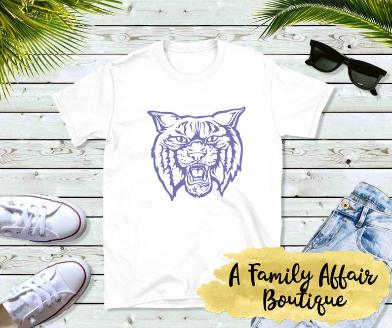 University of Kentucky Wildcats UK Big Paw on Blue T Shirt