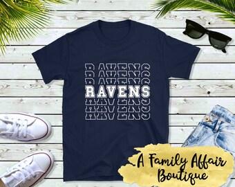 Ravens Mascot, Sports Mascot, Unisex Shirt