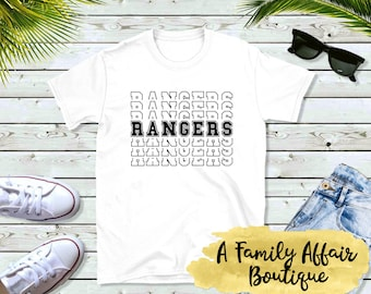 Rangers Mascot, Sports Mascot, Unisex Shirt