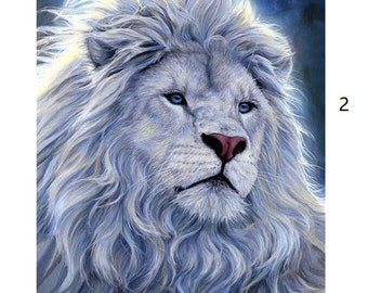 painting of lion etsy