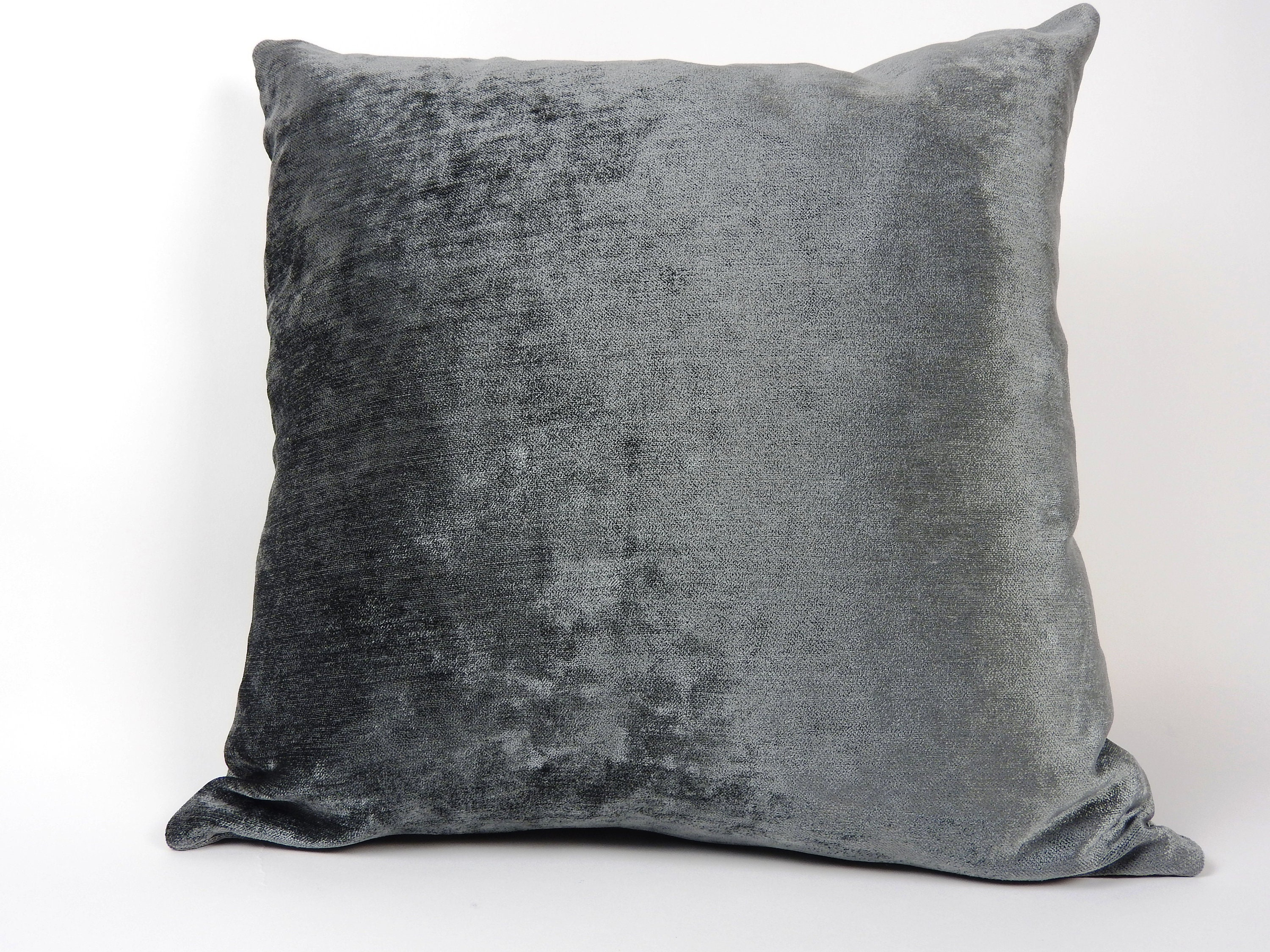 Stupendous Luxurious Charcoal Gray Velvet Throw Pillow Cover Solid Color And Plush Velvet Mix With Other Pillows To Add A Modern Touch To Any Room Bralicious Painted Fabric Chair Ideas Braliciousco