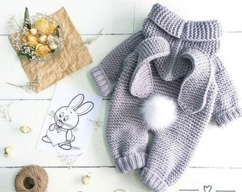 a4635a7ba6d5 knitted baby romper, baby bunny costume, knitted baby clothes, newborn  crochet outfit, baby winter clothes, baby Christmas gifts, photo prop