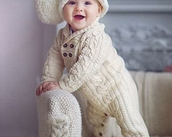 10fac3daa crochet baby outfits, baby warm jumpsuit, knitted baby clothes, baby rompers,  crochet baby hat, newborn baby clothes, crochet baby set