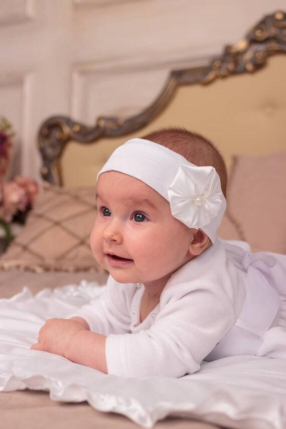 Baby White Lace Headband Christening Girl Headband Infant