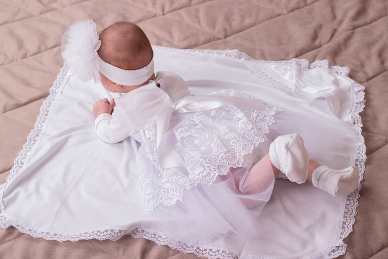 white baby dress 1st birthday dress flower girl dress christening gown special occasion baby girl baptism dress lace christening dress