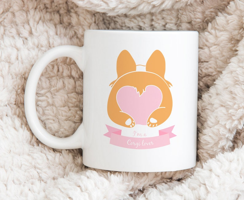 Corgi lover gift mug with illustration 11oz image 0