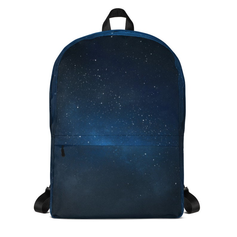Starry sky backpack with computer space